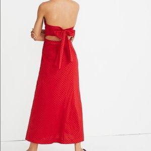 Halter tie back midi dress